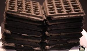 Gaufres coco charbon noir