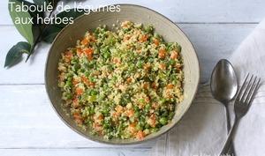 Taboulé de légumes aux herbes