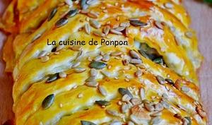 Feuilleté champignon mozzarella et saucisse