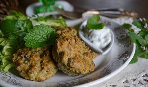 Croquettes aux lentilles vertes et au curry
