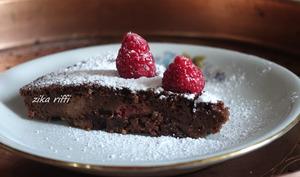 Fondant ricotta, chocolat et framboise