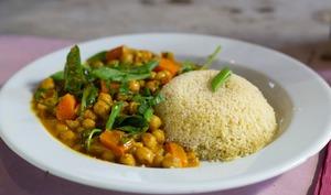 Curry de pois-chiches et carottes