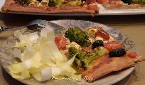 Pizza à la farine complète
