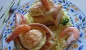 Croustades de Poisson, Sauce Béchamel au Curry