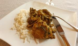 Poisson au lait de coco et curry