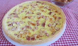 Tarte fine au bacon et St-Môret