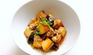 Tofu Sauté - Porc Haché - Champignons Noirs