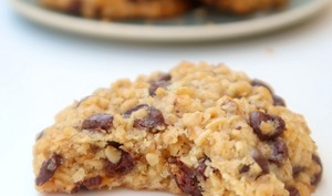 Cookies aux flocons d'avoine et au chocolat vegan