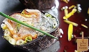 Maki iodés au pesto de fleurs de pissenlit