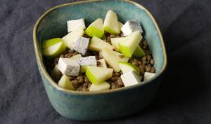 Salade de lentilles chèvre pomme