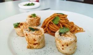 Ballotines de poulet aux crevettes