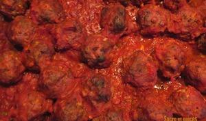 Boulettes italiennes en sauce tomate