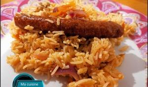 Merguez et son riz au cookeo