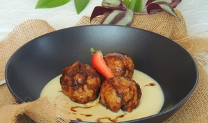 Coconut et chocolate dumplings