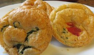 Muffins aux blettes et tomates