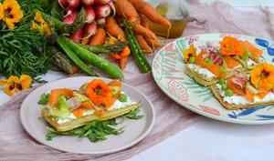 Tarte fine aux légumes de printemps