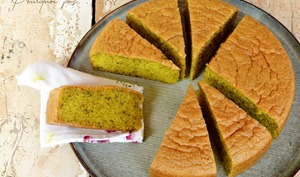 Gâteau pistache, fleur d'oranger, huile d'olive
