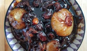Compote d'oignons nouveaux en aigre-doux