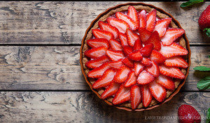 Tarte aux fraises sans crème