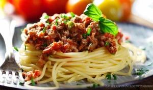 Spaghettis sauce bolognaise maison