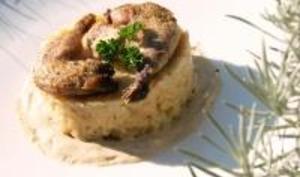 Cuisses de Caille, Purée de Céleri, Crème de Foie Gras aux Épices de Pain d'Épice