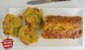 Cake aux poireaux et au curry