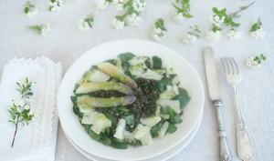 Salade de lentilles au cresson
