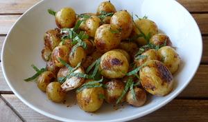 Pommes de terre de Noirmoutier au citron et à la menthe