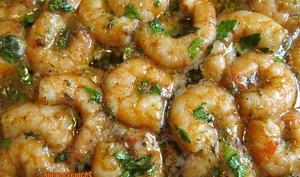 Crevettes cuites au four au miel et épices Cajun