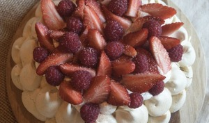 Ma Pavlova aux fruits rouges