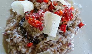 Portobello farci au risotto et fromage