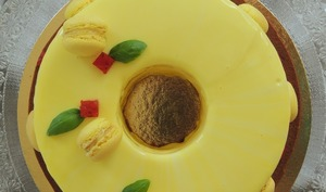 L'entremets ensoleillé citron basilic fraise