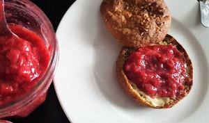 Confiture fraise framboises sans sucre