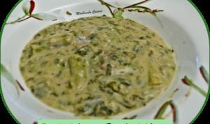 Ragoût d'asperges blanches à l'oseille et oignons