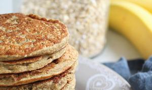 Pancakes flocons d'avoine, banane