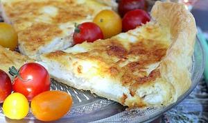 Tarte au mascarpone et fromage de chèvre