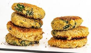 Galettes de quinoa et épinards
