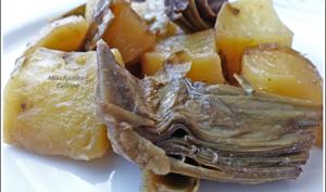 Poêlée de pommes de terre et artichauts