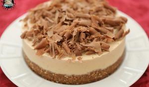 Cheesecake glacé banane, chocolat, confiture au lait
