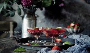 Salade aux fraises et menthe fraiche