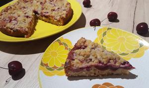 Gâteau streusel aux cerises