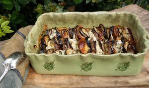 Tian d'aubergines, mozzarella et scamorza