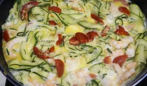 Tagliatelles de Courgettes et Crevettes