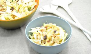 Salade chou blanc, fenouil, pomme et fruits secs
