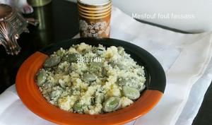 Couscous fin aux fèves fraîches