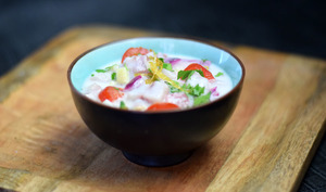 Ceviche de poisson blanc au lait de coco