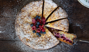 Käsestreuselkueche aux fruits rouges