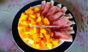 Jambon aux fruits