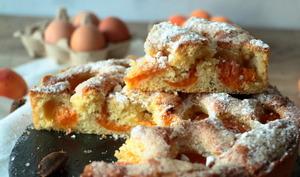 Gâteau brioche aux abricots