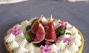 Tarte Ganache Chocolat Blanc aux Prunes et Figues